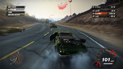 Muscle cars racing on the road in 'FUEL'