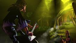 Jamming onstage in Guitar Hero II