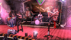 Band playing a small venue in Guitar Hero III: Legends of Rock
