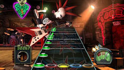 Skeleton punk in single player action in Guitar Hero III: Legends of Rock