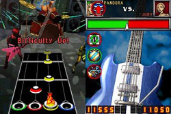 Multiplayer action in Guitar Hero: On Tour