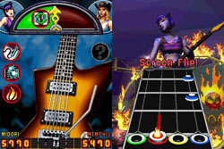 Multiplayer action in Guitar Hero On Tour: Decades