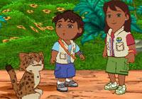 Baby Jaguar, Diego and Alicia in 'Go Diego Go: Great Dinosaur Rescue' for PS2