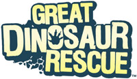 'Go Diego Go: Great Dinosaur Rescue' game logo for Wii