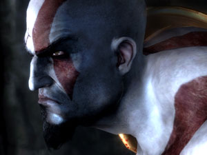 Kratos in profile from God of War III