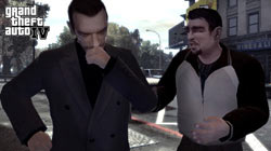 Niko and Roman from GTA IV