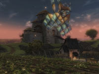 Lush farmland from Guild Wars 2