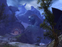 Norn animal spirits landscape from Guild Wars 2