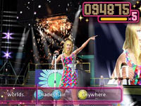 Hannah performing onstage in 'Walt Disney Pictures Presents Hannah Montana The Movie'