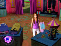Miley shopping in 'Walt Disney Pictures Presents Hannah Montana The Movie'