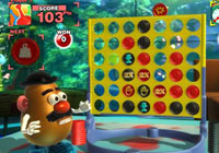 Playing Connect Four with Mr. Potato Head in 'Hasbro Family Game Night'