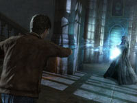 Harry caught up in a duel in Harry Potter and the Deathly Hallows - Part 2