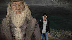 Dumbledore and Harry in 'Harry Potter and the Half-Blood Prince' the Video Game'