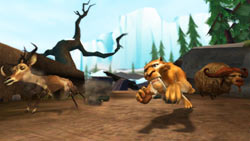 Diego and friends in 'Ice Age: Dawn of the Dinosaurs' the Video Game