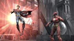 Superman vs. The Flash in Injustice: Gods Among Us