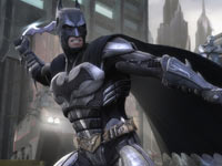 Batman throwning a batarang in Injustice: Gods Among Us