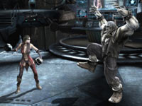 Harley Quinn standing against Soloman Grundy in Injustice: Gods Among Us