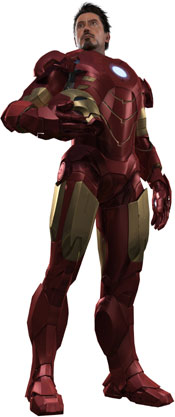 Iron Man with helmet off revealing Tony Stark in Iron Man 2