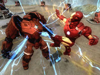 Iron Man battling Crimson Dynamo in Iron Man 2