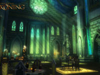 A beautiful interior environment from Kingdoms of Amalur: Reckoning