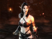 A female Dark Elf character from Kingdoms of Amalur: Reckoning