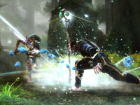Merged magic and melee combat in Kingdoms of Amalur: Reckoning