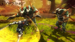 Combat against multiple enemies in Kingdoms of Amalur: Reckoning