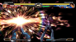 Linked and finishing move possibilities built into the new Critical Counter system in 'The King of Fighters XII'