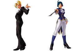 Console release exclusive playable fighters Mature and Elizabeth Blantorche from 'The King of Fighters XII'