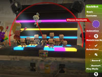 Cut-scene Maker screen utilizing Sackbots in LittleBigPlanet 2