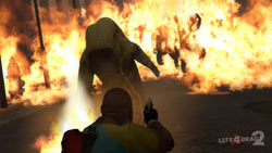 Battling zombies who have adapted to fire in Left 4 Dead 2