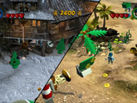 Co-op screen in LEGO Indiana Jones 2: The Adventure Continues