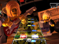 Use of LEGO blocks in the gameplay tablature in LEGO Rock Band