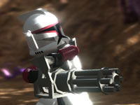 A clone wielding a heavy weapon in LEGO Star Wars III: The Clone Wars