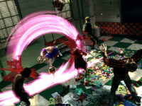 A heavy combo attack, meant to take out multiple zombies, in Lollipop Chainsaw