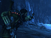 Jim Peyton pelted by an icy winter blast in Lost Planet 3
