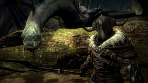 The Black Númenórean lord, Agandaûr and his mount in Lord of the Rings: War in the North