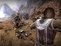 Using a spell during ranged combat in Lord of the Rings: War in the North