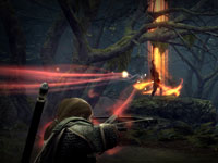 Targeting with a crossbow in Lord of the Rings: War in the North