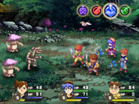 Battle system screen from Lunar: Silver Star Harmony