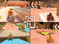 4-player split-screen multiplayer in Madagascar Kartz for Xbox 360
