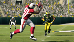 Making a catch in the secondary in Madden NFL 13