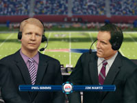 Commentary by CBS' Phil Simms & Jim Nantz