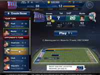 Madden Social Facebook and iOS feature, Madden Crossfire game screen