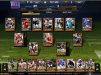 Team management in Madden Social functionality