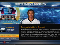 Connected Careers functionality screen from Madden NFL 13