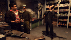 Shopping for weapons in Mafia II