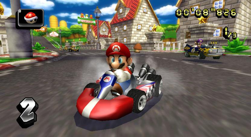 Mario kart wii with wii wheel artist not for Coupe miroir mario kart wii