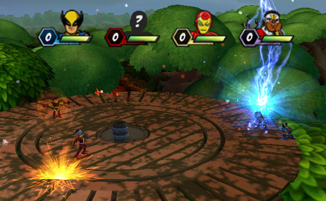 player multiplayer action from Marvel Super Hero Squad