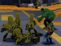 Hulk and Wolverine in Marvel Super Hero Squad